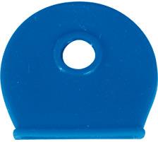 RIEFFEL Schlüsselkappen 8009FS D blau 100 Stück Für Schlüssel mit rundem Kopf , Durchmesser: 25 mm., Zubehör Ja, Material Kunststoff, Anzahl Schlüssel 1, Farbe(Filter) blau