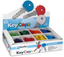RIEFFEL Schlüsselkappen 8009STV/2 ass. 200 Stück Für Schlüssel mit rundem Kopf , Durchmesser: 25 mm., Zubehör Ja, Material Kunststoff, Anzahl Schlüssel 1, Farbe(Filter) Farbig assortiert