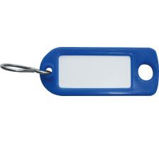 RIEFFEL Schlüssel-Anhänger 8034FS BL blau 100 Stück S-Haken , Aufhängeöse , einseitig beschriftbar , Grösse: 22 x 55 mm., Mit S-Haken und Aufhängeloch, Zubehör Ja, Material Kunststoff, Anzahl Schlüssel 100