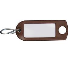RIEFFEL Schlüssel-Anhänger 8034FS BR braun 100 Stück S-Haken , Aufhängeöse , einseitig beschriftbar , Grösse: 22 x 55 mm., Mit S-Haken und Aufhängeloch, Zubehör Ja, Material Kunststoff, Anzahl Schlüssel 10