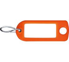 RIEFFEL Schlüssel-Anhänger 8034FS OR orange 100 Stück S-Haken , Aufhängeöse , einseitig beschriftbar , Grösse: 22 x 55 mm., Mit S-Haken und Aufhängeloch, Zubehör Ja, Material Kunststoff, Anzahl Schlüssel 1