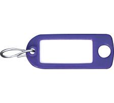 RIEFFEL Schlüssel-Anhänger 8034FS VI violet 100 Stück S-Haken , Aufhängeöse , einseitig beschriftbar , Grösse: 22 x 55 mm., Mit S-Haken und Aufhängeloch, Zubehör Ja, Material Kunststoff, Anzahl Schlüssel 1