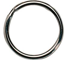 RIEFFEL Schlüsselringe 8050FS/38 38mm 100 Stück Stahl gehärtet , vernickelt., Durchmesser  38 mm, Zubehör Ja, Material Stahl, Anzahl Schlüssel 1, Abmessungen, Farbe(Filter) silber