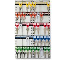 """RIEFFEL Schlüsseltafel KyStor weiss KR-11.50 50×30,5cm 50 Haken Tafel aus Stahlblech , versellbare """"KyStor""""-Hakenleisten , Visu-Color-Nummerierungssystem , inklusive """"KyStor""""-Schlüsselanhänger , Verankerungslöcher , Lackieru"""