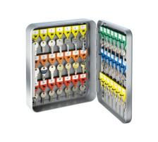 RIEFFEL Schlüsselkasten KyStor grau KR-15.42Z 32x24x8cm 42 Haken Tiefgezogenes Stahlgehäuse , mit Zahlenschloss , Türe kann 180° geöffnet werden , mit schwenkbarem Schlüsselverzeichnis , verstellbare Hakenleiste , inkl. p