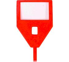 RIEFFEL Schlüssel-Anhänger KyStor KR-A ROT/ rot Aus Kunststoff , ohne Etiketten., VISU, rot, Zubehör Ja, Material Kunststoff, Anzahl Schlüssel 1, Farbe(Filter) rot