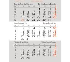 SATUREX 3-Monats-Ersatzblätter 5039EKA d/e/f/i/sp/nl 10,7x13cm, 2021 3-Monats-Überblick, Einteilung 3M/B, Farbe weiss, Format 10,7 x 13,0 cm, Format 125 x 125 mm, Material Papier, Typ Tischkalender, Typ Tischkalender, Farbe(Filter) weiss