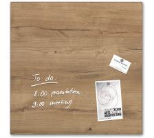 SIGEL Glas-Magnetboard GL254 Natural-Wood 480x480x15mm