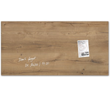 SIGEL Glas-Magnetboard GL258 Natural-Wood 910x460x15mm