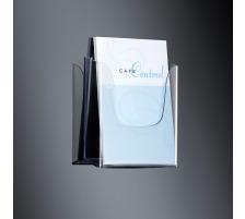 SIGEL Wandprospekthalter Acryl A4 LH115 transparent 240x250x55mm