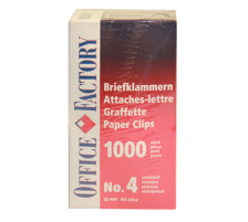 SMART OF. Büroklammern Gr.4 1014 vernickelt, 32mm 1000 Stk.