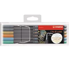 STABILO Fasermaler Pen 68 6806/811 metallic ass. 6 Stück
