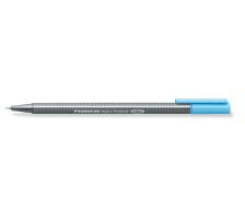 STAEDTLER Triplus Fineliner 0,3 mm 334-34 blau Superfein , metallgefasste Spitze , ergonomischer, dreieckiger Schaft , Kappe mit Clip , nicht nachfüllbar., Strichbreite 0,3 mm, Schriftfarbe hellblau, Zubehör Nein, Etui Nein, Nachfüllba