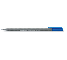 STAEDTLER Triplus Fineliner 0,3mm 334-37 blau Superfein , metallgefasste Spitze , ergonomischer, dreieckiger Schaft , Kappe mit Clip , nicht nachfüllbar., Strichbreite 0,3 mm, Schriftfarbe preussischblau, Zubehör Nein, Etui Nein, Nachfü