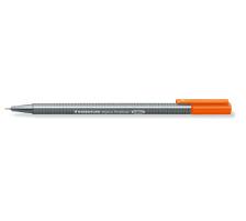 STAEDTLER Triplus Fineliner 0,3mm 334-4 orange Superfein , metallgefasste Spitze , ergonomischer, dreieckiger Schaft , Kappe mit Clip , nicht nachfüllbar., Strichbreite 0,3 mm, Schriftfarbe orange, Zubehör Nein, Etui Nein, Nachfüllbar