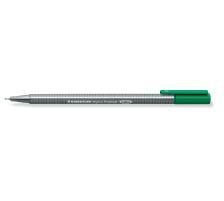 STAEDTLER Feinschr. triplus 334 0,3mm 334-5 grün Superfein , metallgefasste Spitze , ergonomischer, dreieckiger Schaft , Kappe mit Clip , nicht nachfüllbar., Strichbreite 0,3 mm, Schriftfarbe grün, Zubehör Nein, Etui Nein, Nachf&u