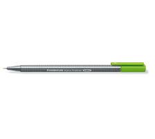 STAEDTLER Triplus Fineliner 0,3mm 334-51 gelbgrün Superfein , metallgefasste Spitze , ergonomischer, dreieckiger Schaft , Kappe mit Clip , nicht nachfüllbar., Strichbreite 0,3 mm, Schriftfarbe gelbgrün, Zubehör Nein, Etui Nein, Na