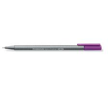 STAEDTLER Triplus Fineliner 0,3mm 334-6 violett Superfein , metallgefasste Spitze , ergonomischer, dreieckiger Schaft , Kappe mit Clip , nicht nachfüllbar., Strichbreite 0,3 mm, Schriftfarbe violett, Zubehör Nein, Etui Nein, Nachfüllba