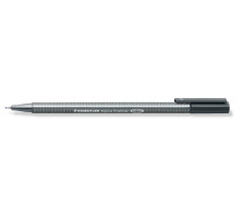 STAEDTLER Triplus Fineliner 0,3mm 334-8 grau Superfein , metallgefasste Spitze , ergonomischer, dreieckiger Schaft , Kappe mit Clip , nicht nachfüllbar., Strichbreite 0,3 mm, Schriftfarbe grau, Zubehör Nein, Etui Nein, Nachfüllbar Nein