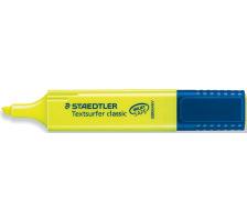 STAEDTLER Textsurfer 364-1 gelb Mit grossem Tintenspeicher für extra lange Markierleistung, lichtbeständige Pigmenttinte, für Papier, Fax und Durchschreibesätze, schnelltrocknend, INKJET SAFE damit die Farben auf den InkJet-Ausdru