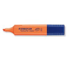 STAEDTLER Textsurfer Classic 364-4 orange Mit grossem Tintenspeicher für extra lange Markierleistung, lichtbeständige Pigmenttinte, für Papier, Fax und Durchschreibesätze, schnelltrocknend, INKJET SAFE damit die Farben auf den Ink