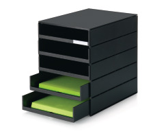 STYRO Schubladenbox styroval pro C4 14-800190 schwarz, 5 Schubladen