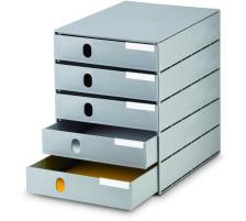 STYRO Schubladenbox grau 16-800085 5 Fächer