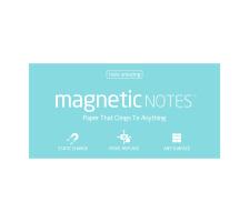 TESLA AM. Magnetic Notes L 200x100mm 116 aqua 100 Blatt