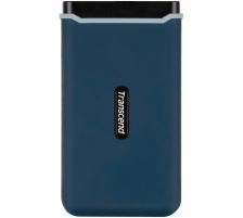TRANSCEND ESD350C External SSD 960GB TS960GESD blue, USB-C, incl. Cables