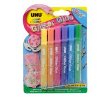 UHU Glitter Glue Shiny 39110 6 Stück