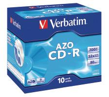 VERBATIM CD-R Jewel 80MIN/700MB 43327 52x crystal 10 Pcs