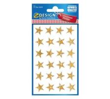 Z-DESIGN Sticker Sterne 52419 gold Weihnachten