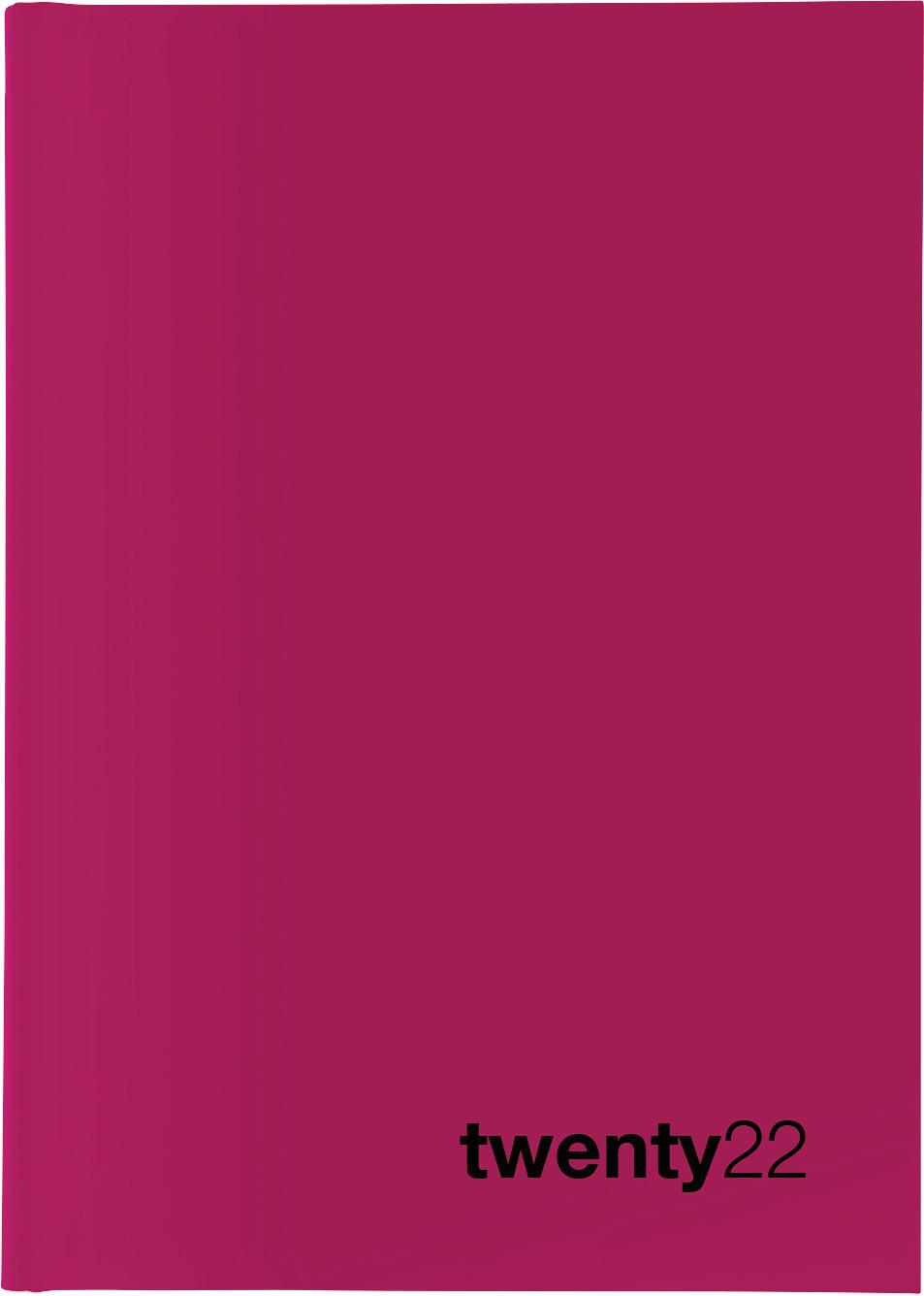 BIELLA Geschäftsagenda Colorful 2022 0809707.400022 14,5x20,5cm 1W/2S pink