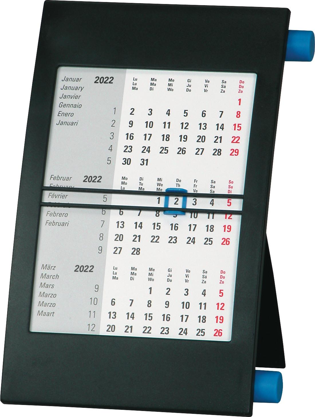 BIELLA Pultkalender Desktop Frame 0883501.020022 18x11 cm, 3M/1S, 2022