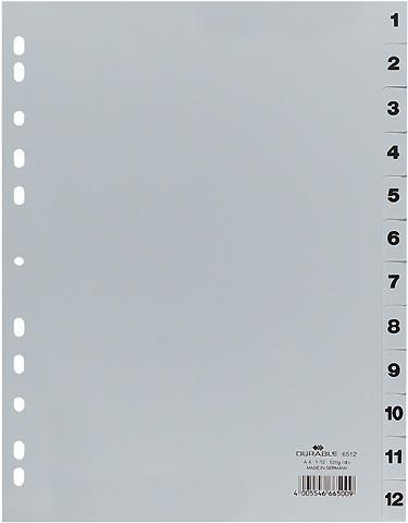DURABLE Register grau A4 6512/10 1-12
