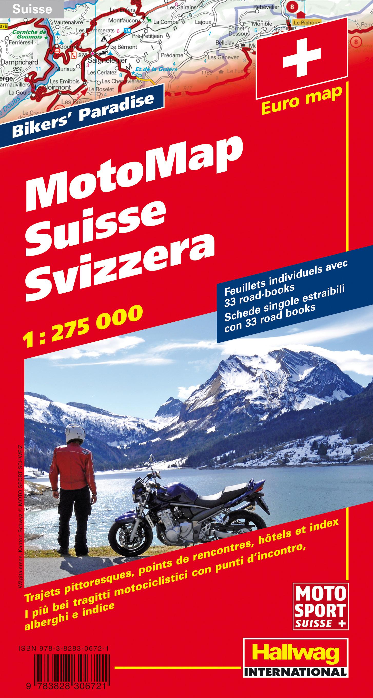 Schweiz MotoMap 1:275 000 Motorradkarte 275000