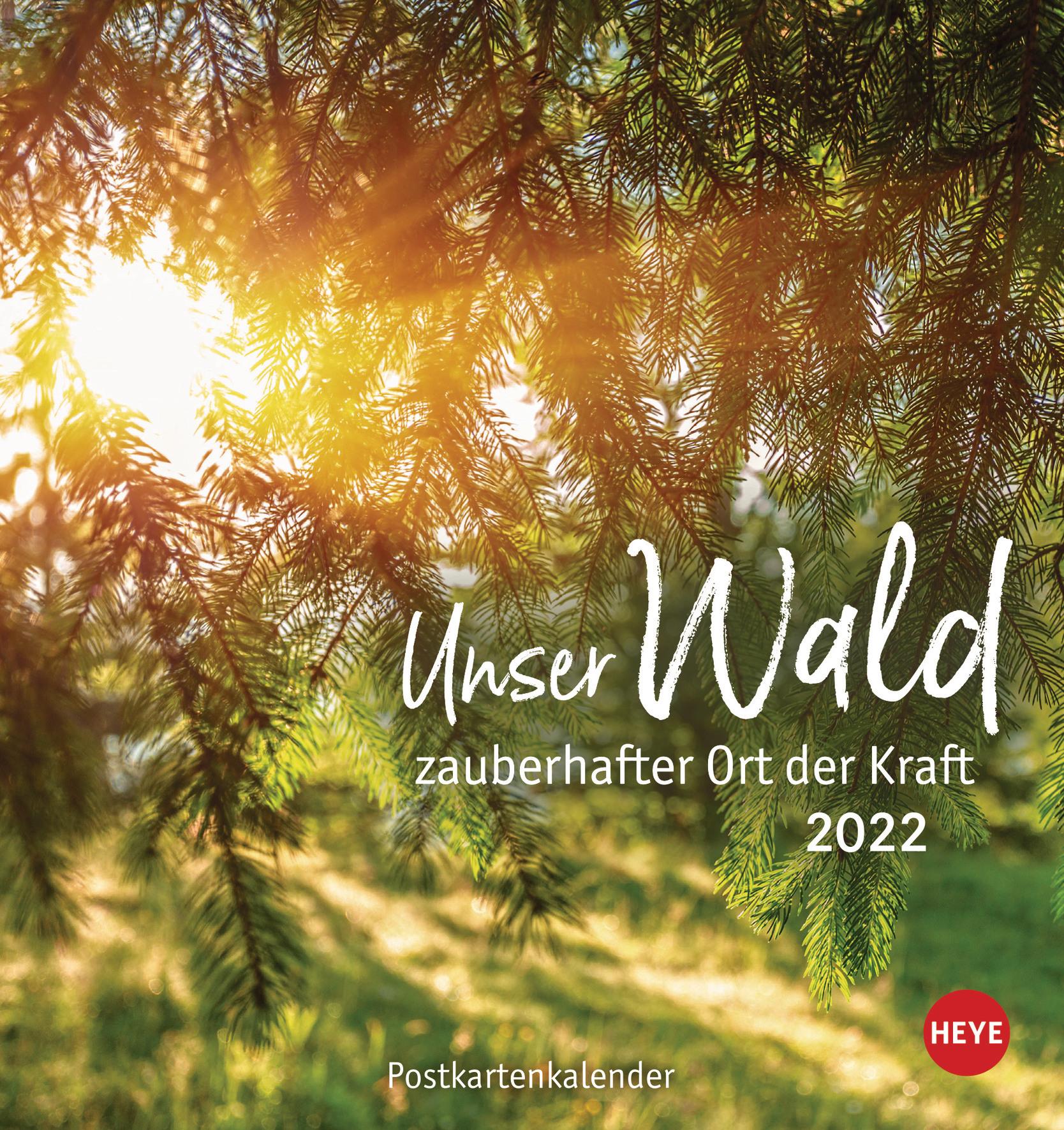 HEYE Unser Wald Postkartenkalender 35449439 D, 16x17cm, 2022