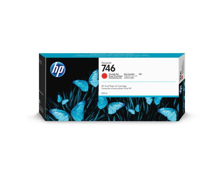 HP P2V81A Tinte Chromatic Red