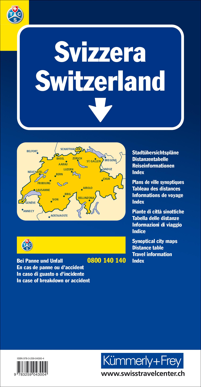 Schweiz TCS 2021 Strassenkarte 301000