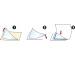 3L Dreieck Corner-Pockets 75x75mm 10006 transp. 12 Stück