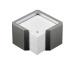 ARLAC Zettelbox Memorion 257.25 silber 10x10cm