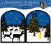 ARS EDITI Adventskalender 28x24cm 489119104 Teelichthäuschen Winternacht