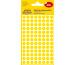 AVERY ZW. Markierungspunkte 8mm 3593 Gelb, ablösbar 4 Blatt