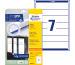 AVERY ZW. Ordner-Etiketten 38x192mm L4760-25 weiss 175 Stück/25 Blatt