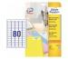 AVERY ZW. Mini Etiketten weiss L7632-25 2000 Stk./25 Blatt