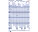 BEREC Jahresplan hoch 60x90cm B5668/21 2021, blau