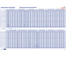 BEREC Saisonplaner 90x60cm B5701TF21 04/20-03/22, blau