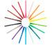 BIC Fasermaler Kid 2mm 888695 12 Farben, Etui