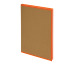 BIELLA Notizbuch Skandal 14,8x21cm 0539515.3 kariert, orange