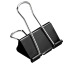 BÜROLINE Foldback-Klammer 19mm 112220 schwarz